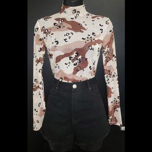 Black Frayed Denim Shorts